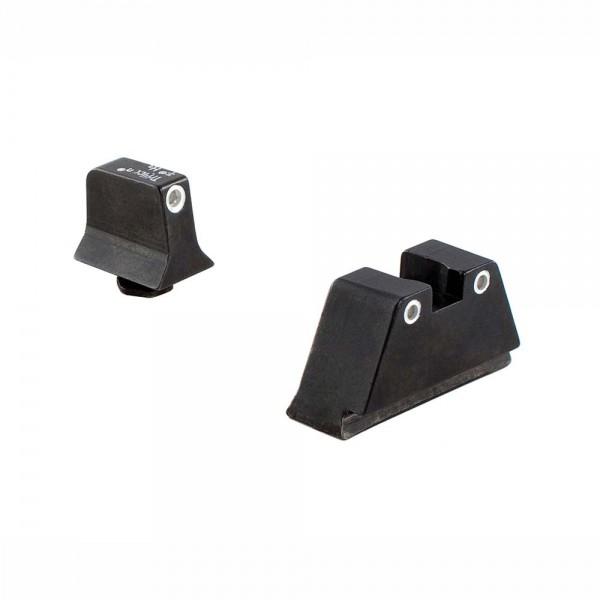 Trijicon N-Visierset für Glock-Pistolen, hohe Bauweise, selbstleuchtend, Grün